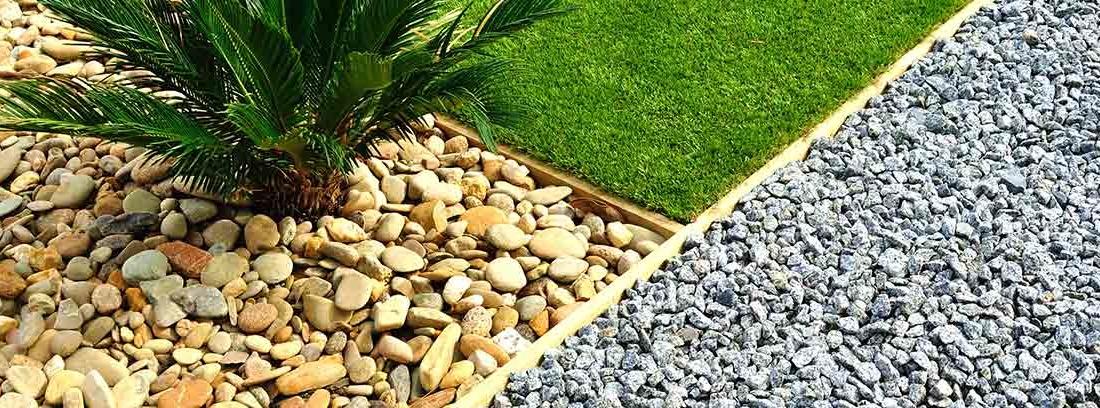 Jardín diseñado con piedras