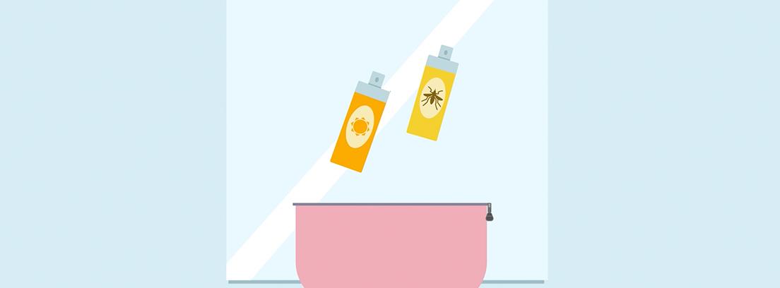 Ilustración bolsa de aseo