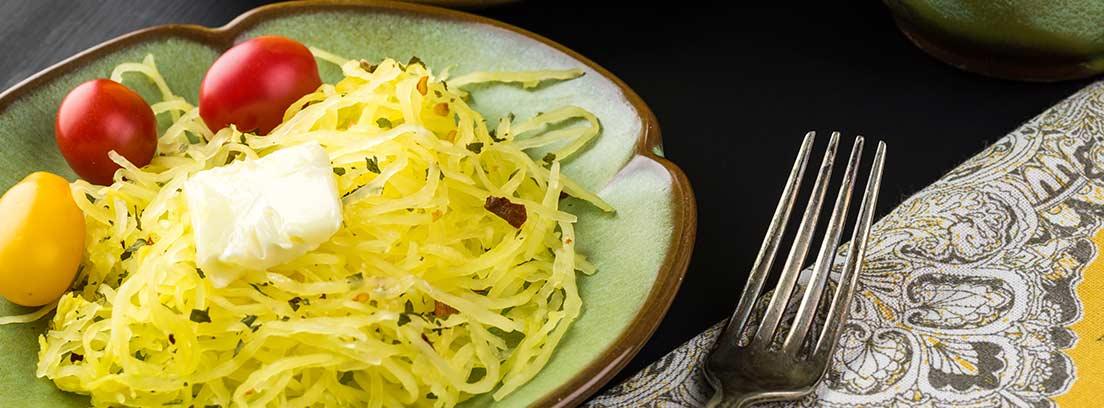 Espaguetis de calabacín en ensalada