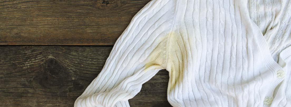 mancha amarilla ropa blanca