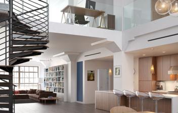 Imagen de una estancia con salón a doble altura