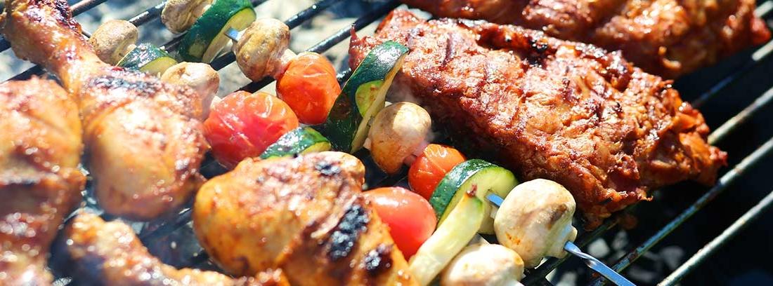 Carne asada con guarnición
