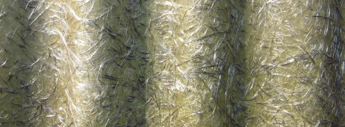 Detalle de lana de vidrio
