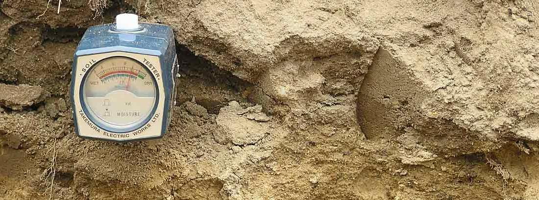 Aparato para medir el pH del suelo
