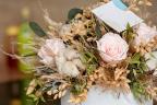 Jarrón con flores preservadas
