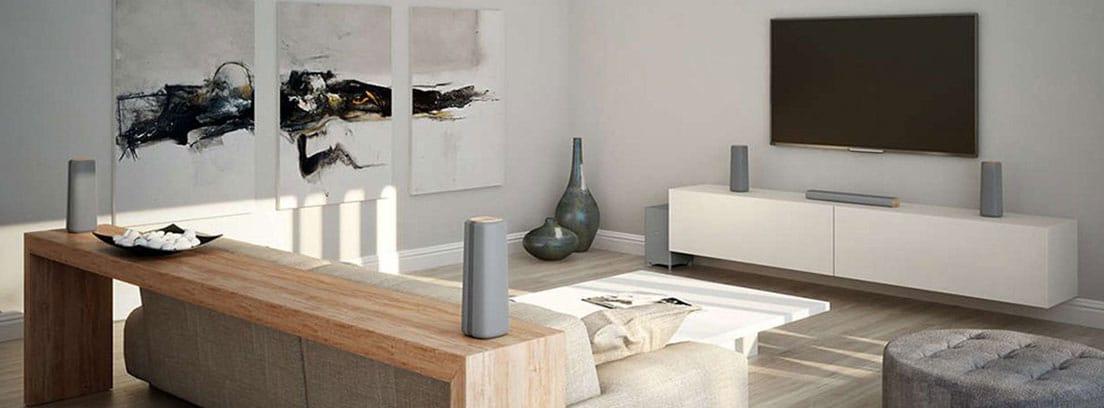Salón de casa y muebles