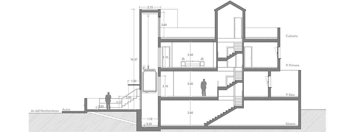 imagen de un proyecto propio del arquitecto Jose Moreno Ferre.