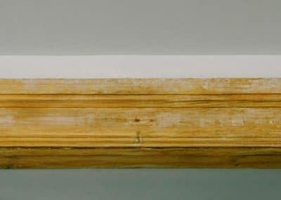 Una viga de poliuretano imitación a madera
