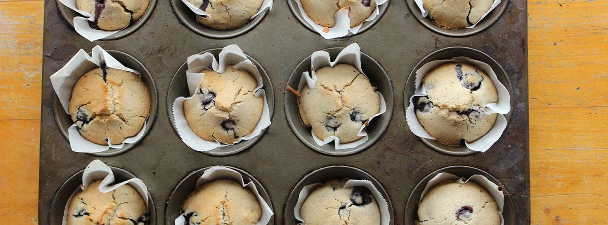 Bandeja perforada para hacer cupcakes
