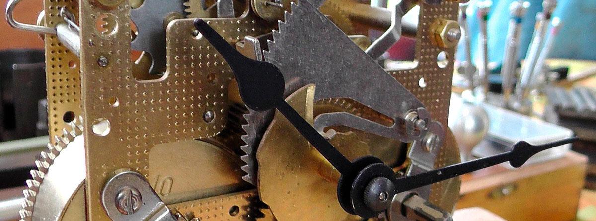 Mecanismo interno de un reloj
