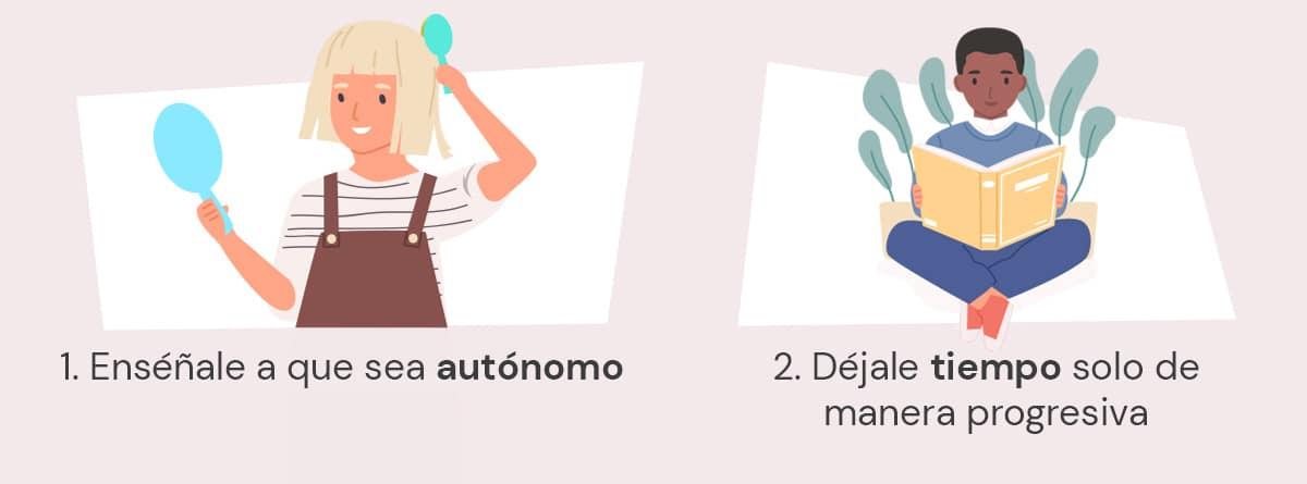 Infografía, consejos para dejar a los niños solos en casa